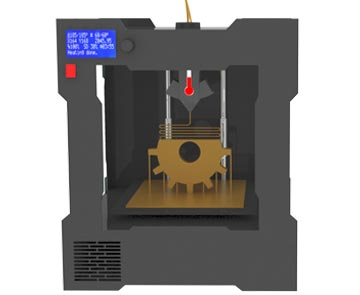 How a 3D printer works