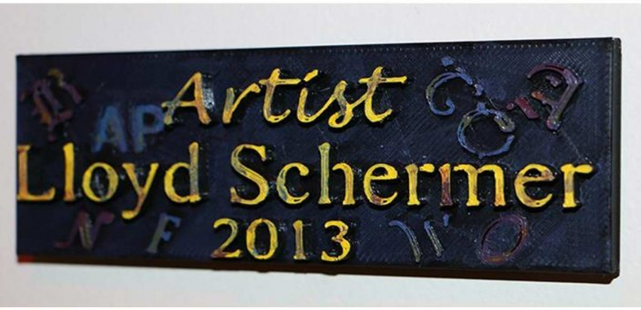 3d printed Lloys Schermer arctics sign