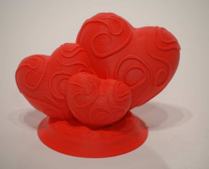 3D printed hearts - amazing