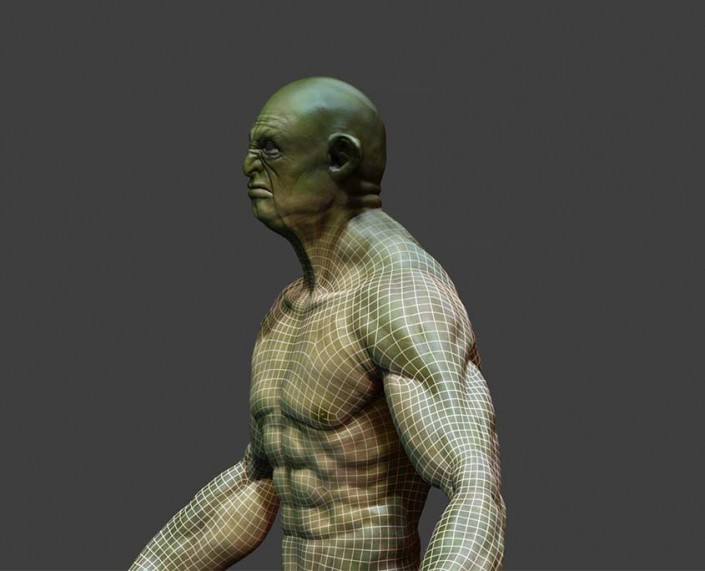 3d mesh of a character