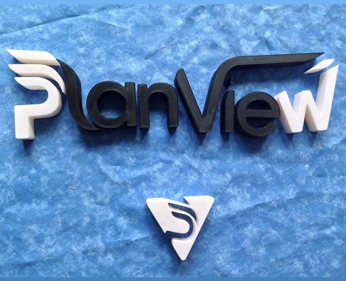 Plain View 3D printed sign