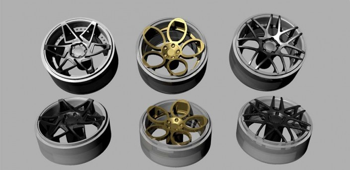 3D modeling wheels