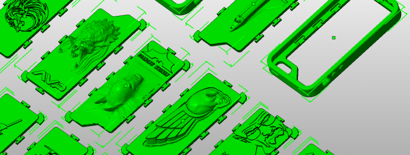 3D printed phone cases preview