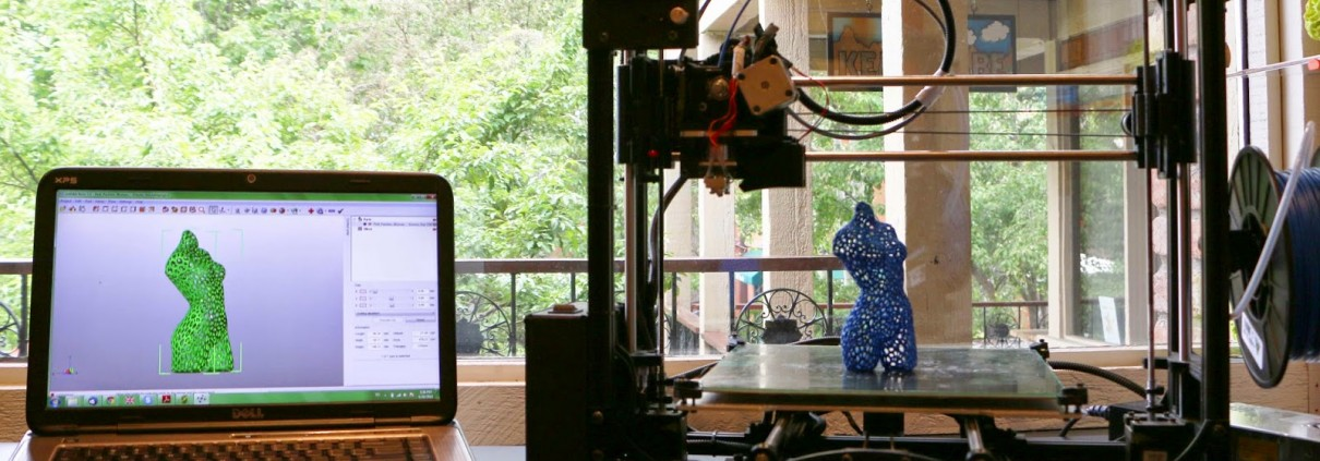 3D printed voronoi lady aspen