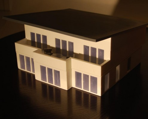 3d printed house model with FDM