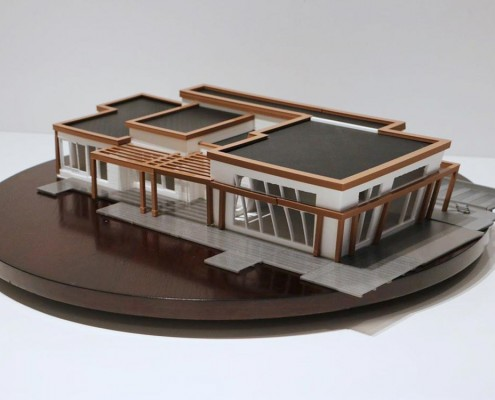 3d printed house scale model with FDM technology