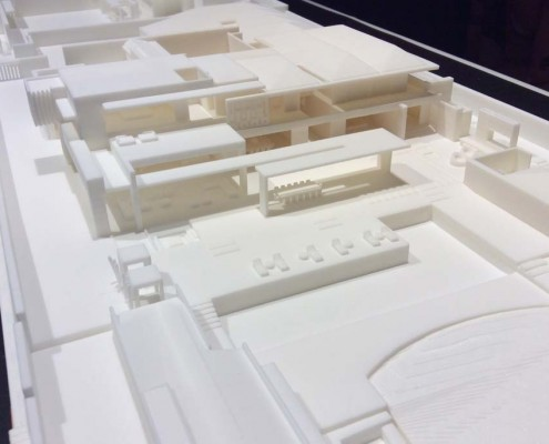 SLA 3d printed high detailed architectural scale model