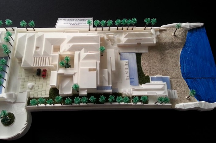 top view architectural scale model