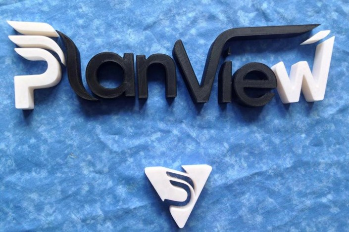 PlainView 3d printed sign