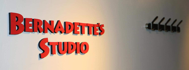 3d printed sign Bernadette studio aspen