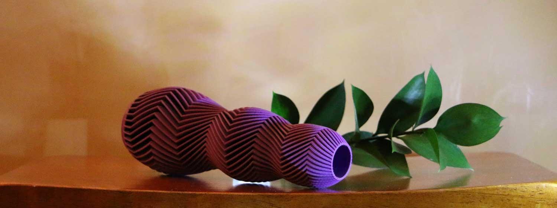 3d printed extraordinary wavy vase