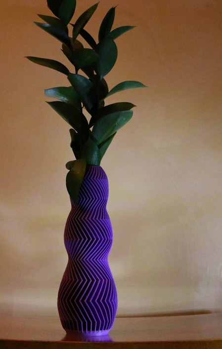 3D Printed art Vase Ajax aspen