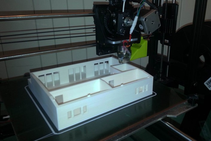 3D printing scale model architecture