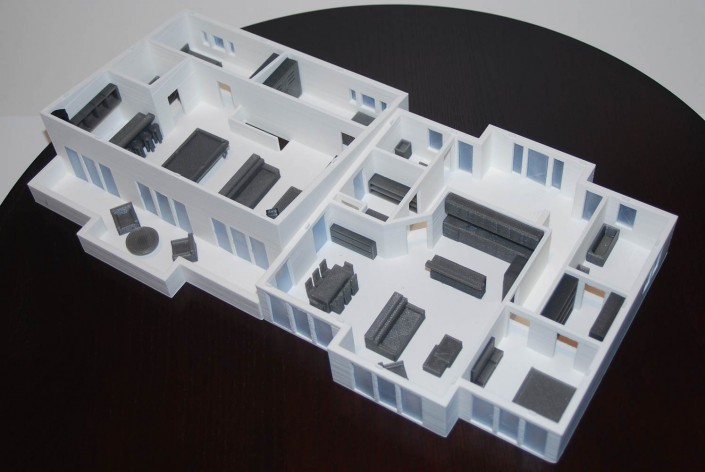 3d printed floor plans and interiors architecture