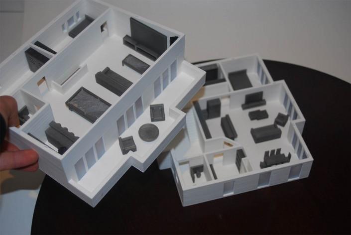 3d printed architectural floor plans+ interiors