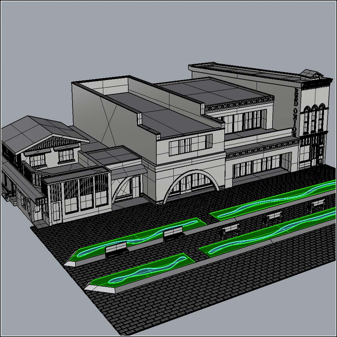 3D CAD file of Aspen Pedestrian Mall ready to be 3D printed