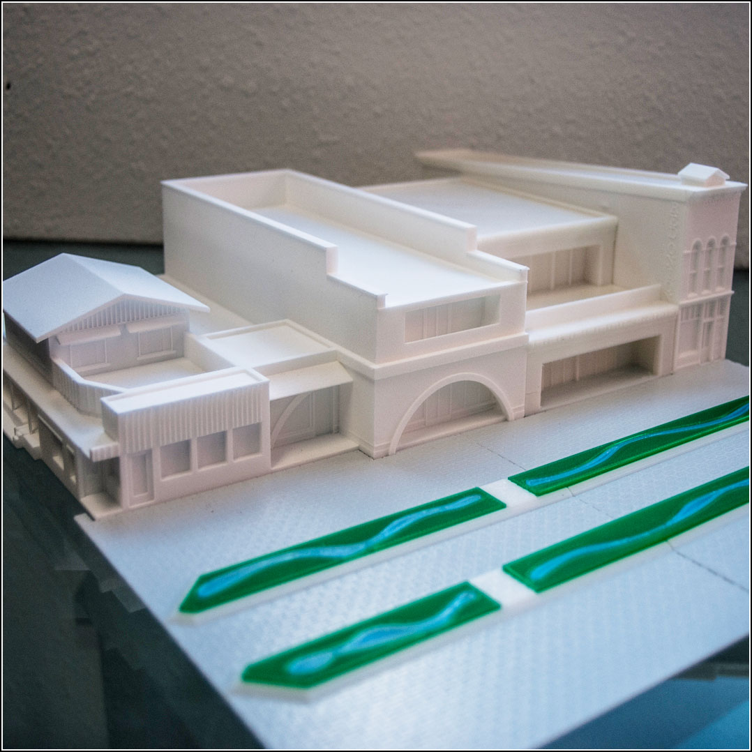 3D Printing Architectural Scale Models of Pedestrian Mall Aspen Colorado